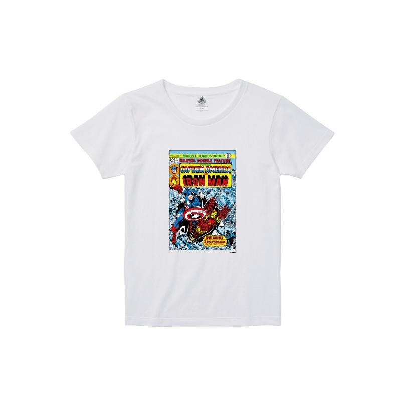 【D-Made】Tシャツ レディース  MARVEL コミック キャプテンアメリカ アイアンマン