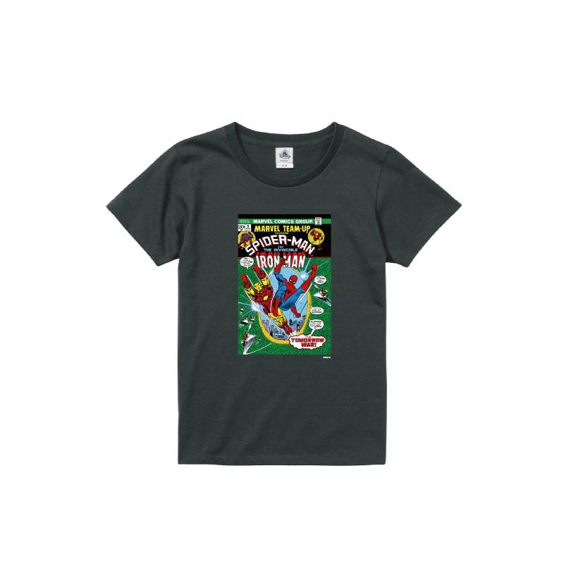 【D-Made】Tシャツ レディース  MARVEL コミック スパイダーマン アイアンマン