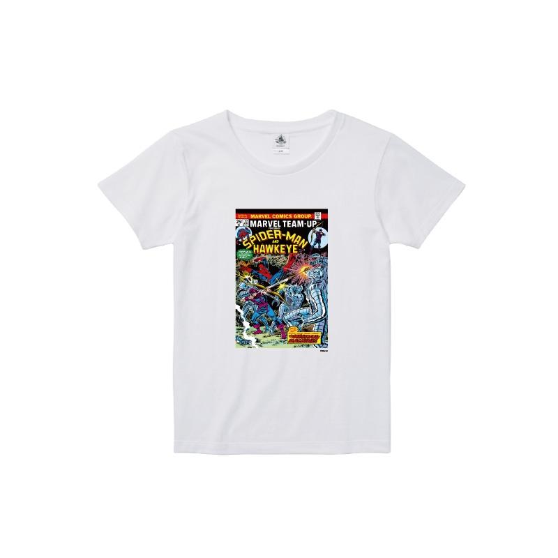 【D-Made】Tシャツ レディース  MARVEL コミック スパイダーマン ホークアイ
