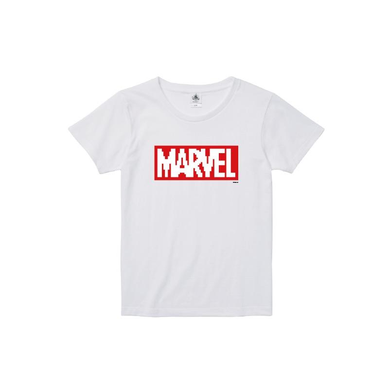 【D-Made】Tシャツ レディース  MARVEL ロゴ