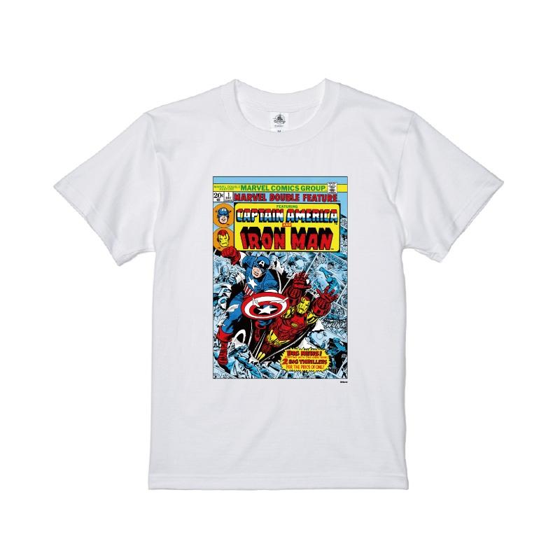 【D-Made】Tシャツ メンズ  MARVEL コミック キャプテン・アメリカ アイアンマン