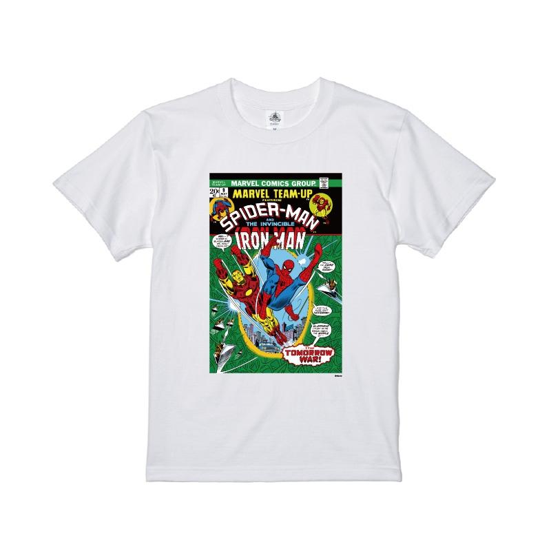 【D-Made】Tシャツ メンズ  MARVEL コミック スパイダーマン アイアンマン