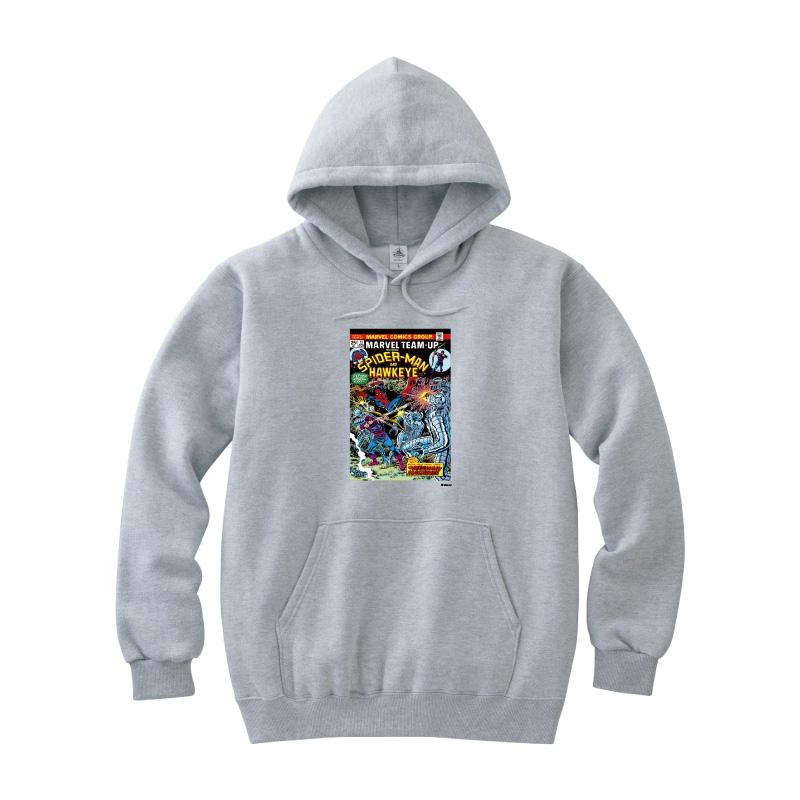 【D-Made】パーカー レディース M MARVEL コミック スパイダーマン ホークアイ