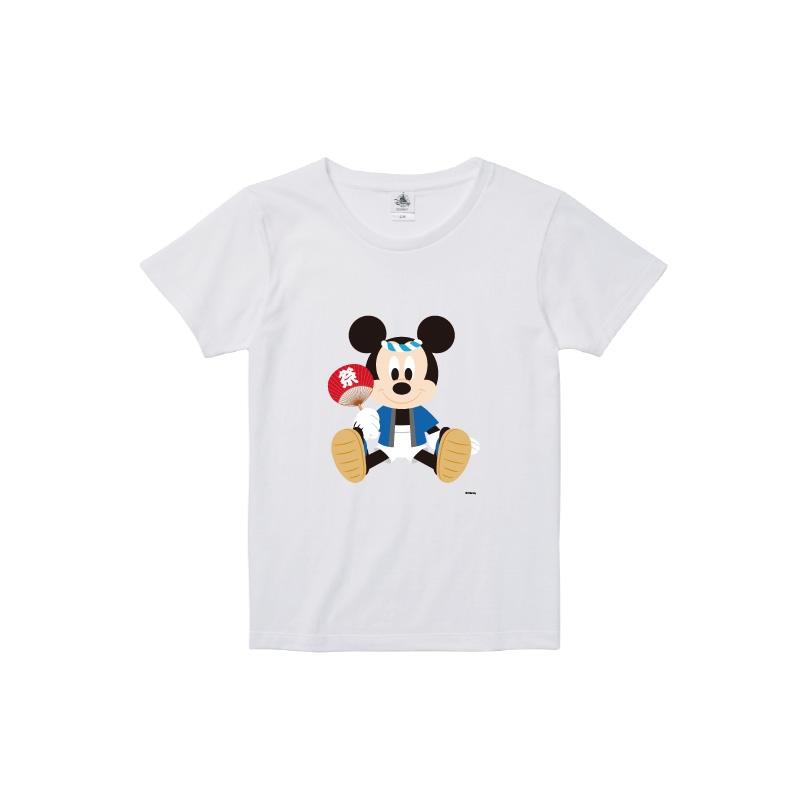 【D-Made】Tシャツ レディース  ミッキーマウス お祭り