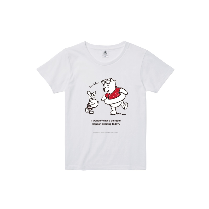 【D-Made】Tシャツ レディース  クールサマー くまのプーさん プー&ピグレット