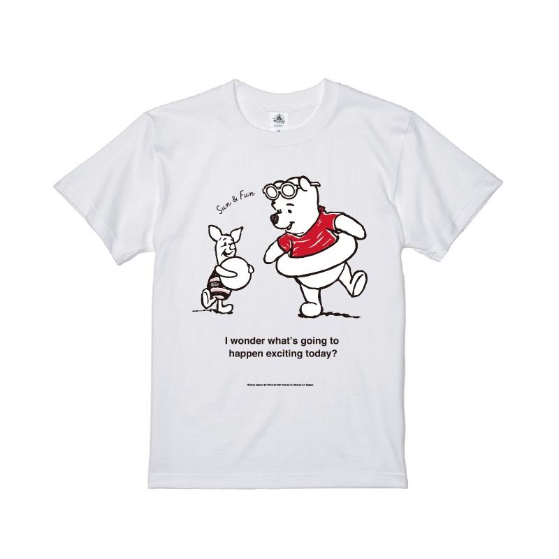【D-Made】Tシャツ メンズ  クールサマー くまのプーさん プー&ピグレット