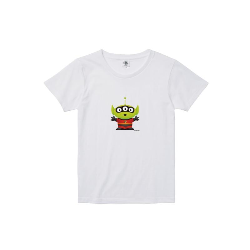 【D-Made】Tシャツ レディース  トイストーリー エイリアン ミスターインクレディブル