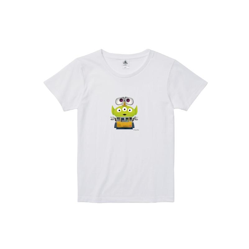 【D-Made】Tシャツ レディース  トイストーリー エイリアン ウォーリー