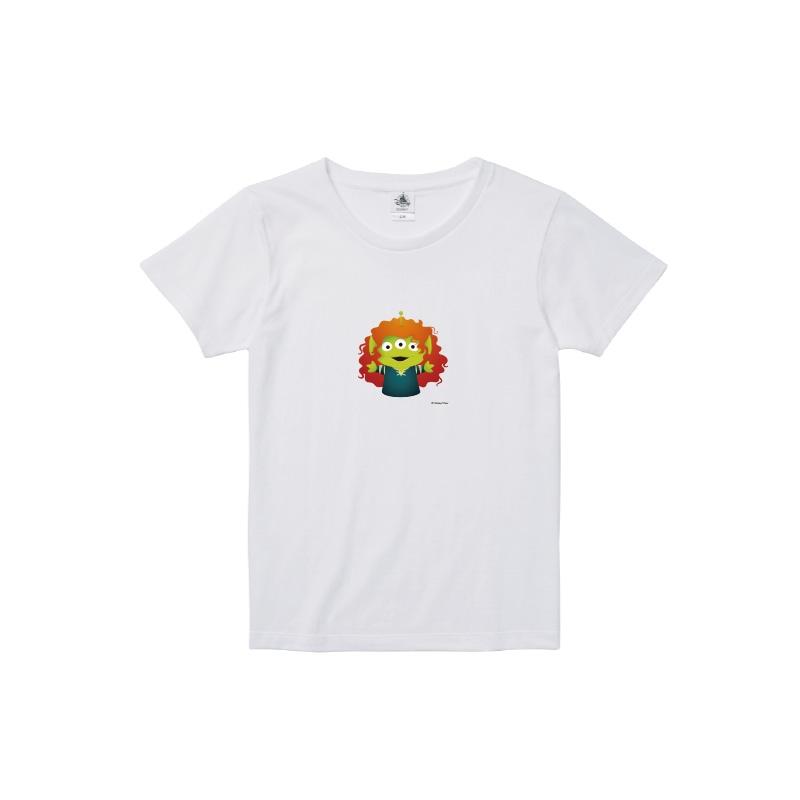 【D-Made】Tシャツ レディース  トイ・ストーリー リトル・グリーン・メン/エイリアン メリダとおそろしの森 メリダ
