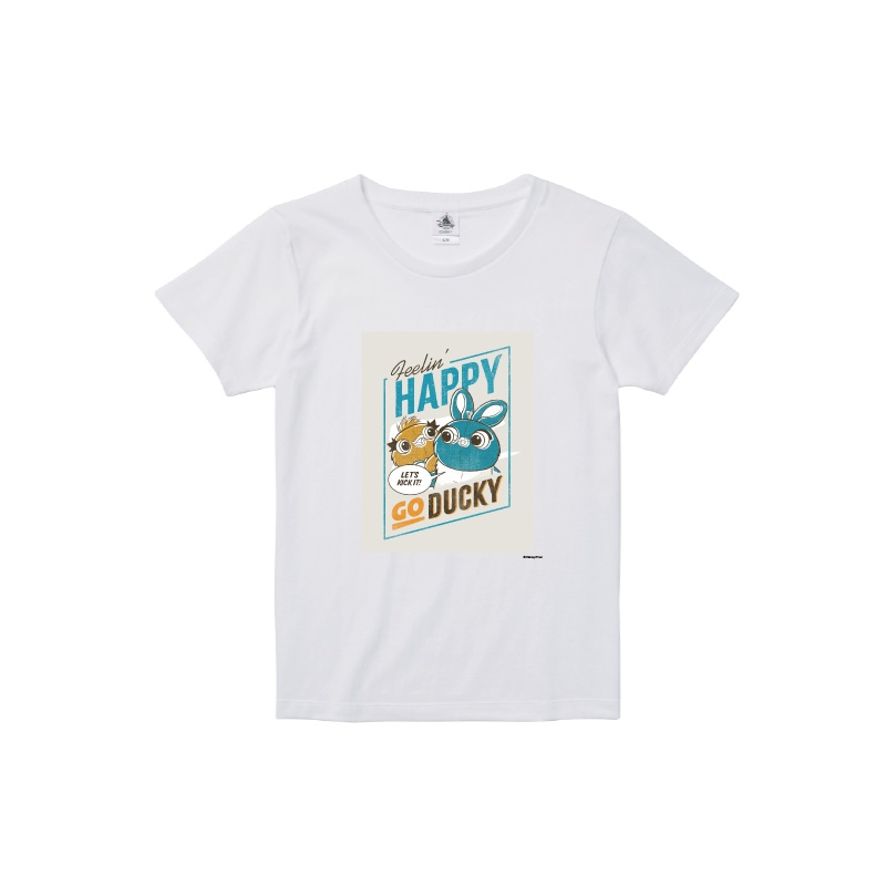 【D-Made】Tシャツ レディース  トイストーリー ダッキー&バニー
