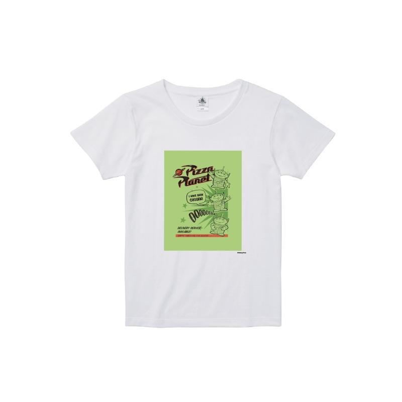 【D-Made】Tシャツ レディース  トイ・ストーリー リトル・グリーン・メン/エイリアン