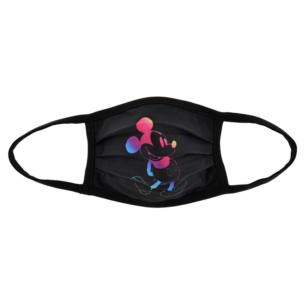 ミッキー 家庭用布マスク ブラック