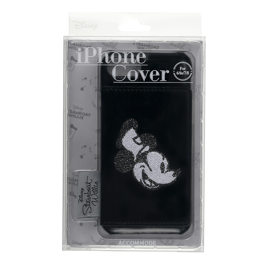 【ACCOMMODE】ミッキー iPhone 6/6s/7/8用スマホケース・カバー パテント Steamboat Willie