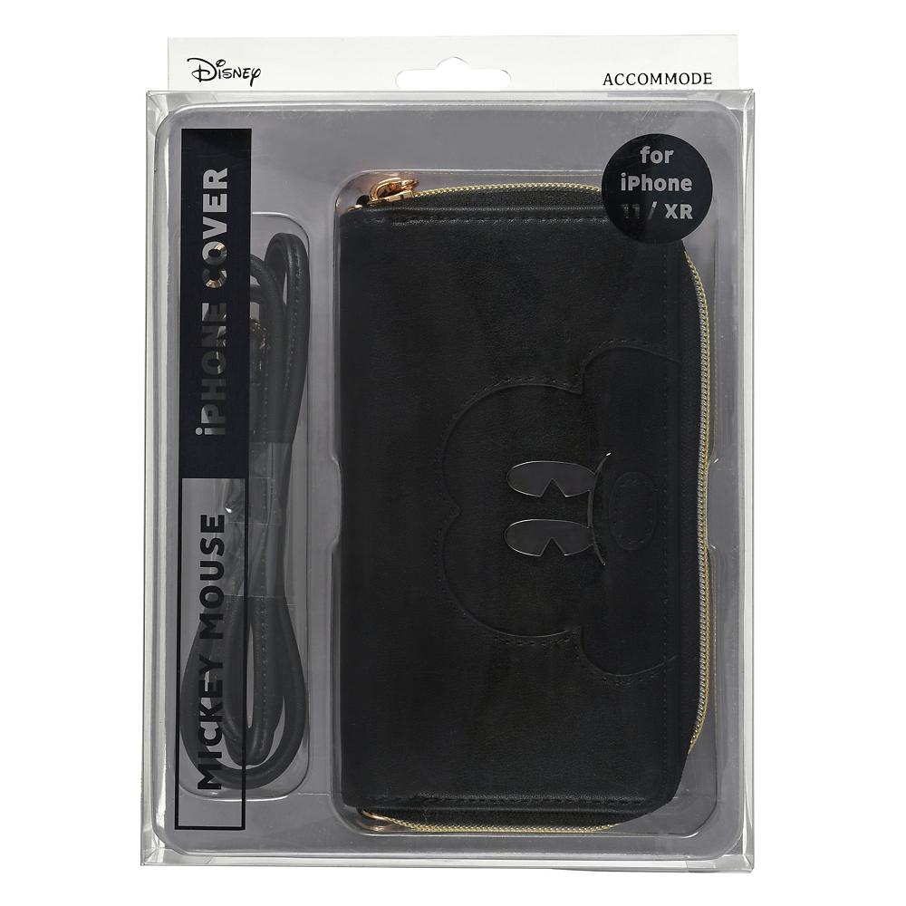 【送料無料】【ACCOMMODE】ミッキー iPhone 11/XR用スマホケース・カバー ストラップ付き メタルアイ
