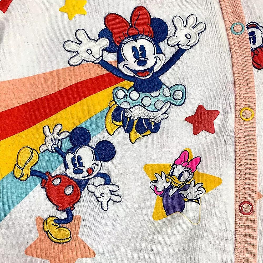 ミッキー&フレンズ ロンパース レインボー&スター Disney baby