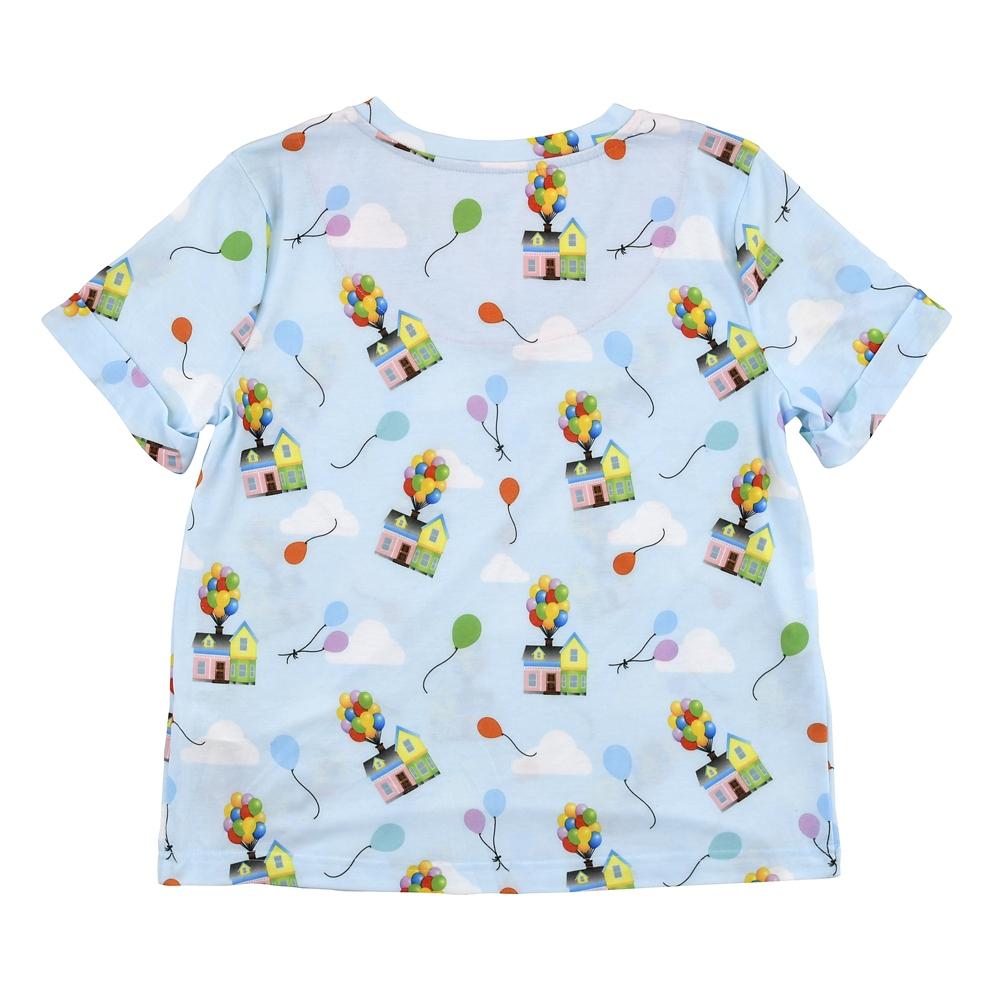 カールじいさんの空飛ぶ家 半袖パジャマ Vネック