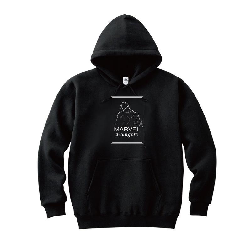 【D-Made】パーカー MARVEL ブラックパンサー
