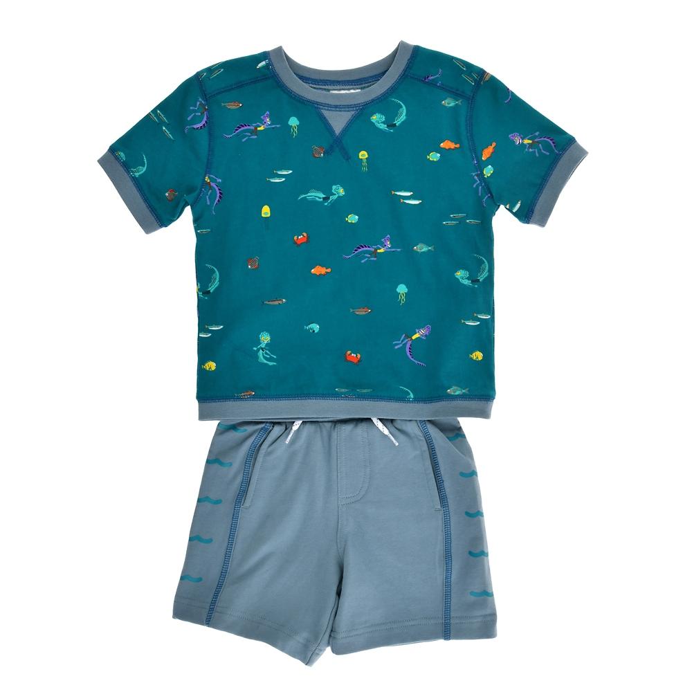 ルカ・パグーロ&アルベルト・スコルファノ キッズ用半袖Tシャツ・パンツ 『あの夏のルカ』