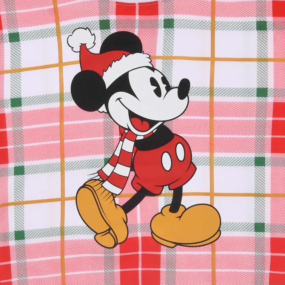 ミッキー トレーナー チェック柄 クリスマス