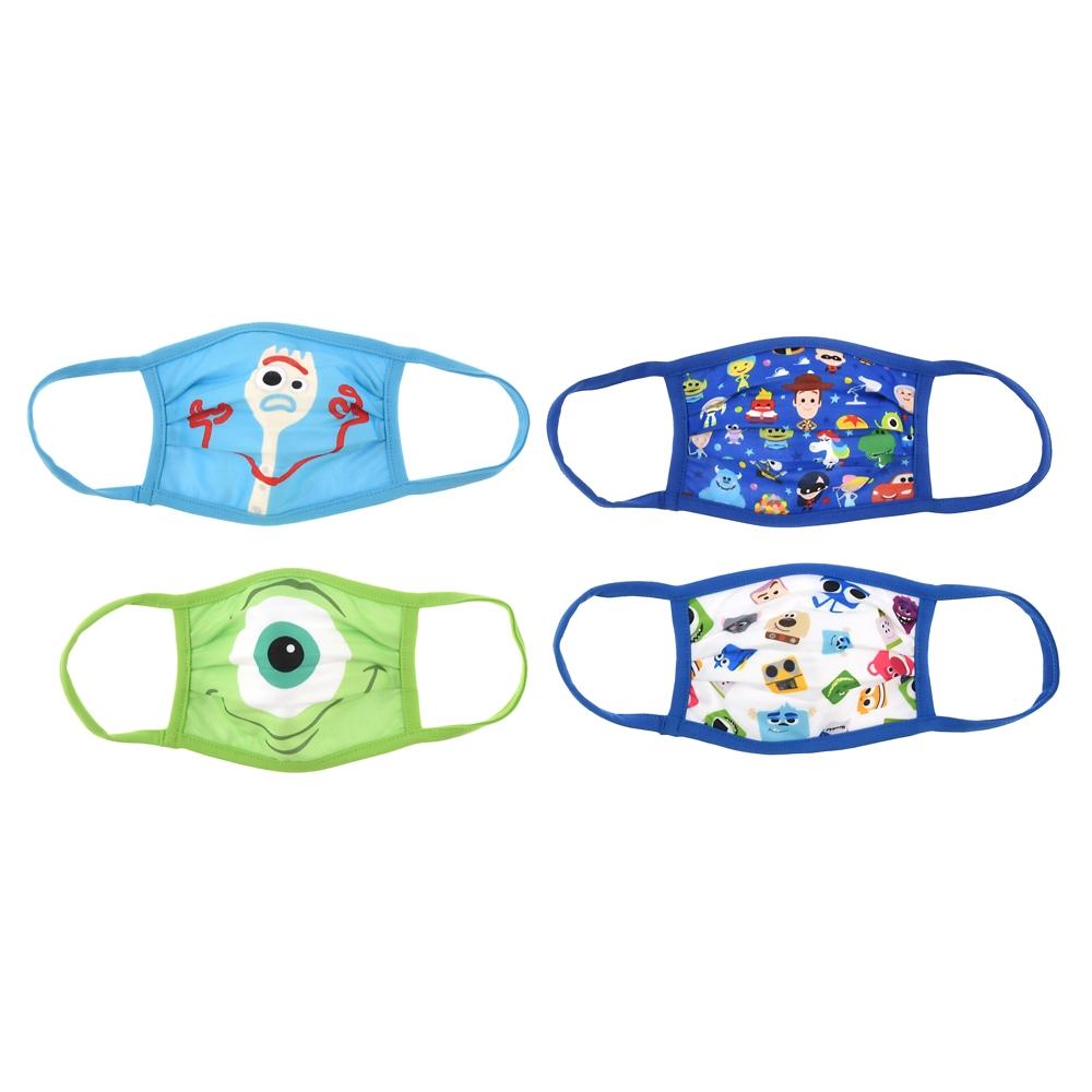 ピクサーキャラクター 家庭用布マスク(S) 4枚セット