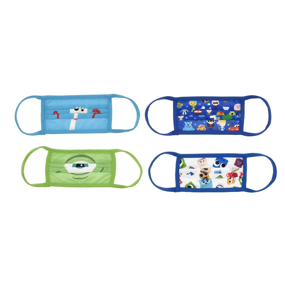 ピクサーキャラクター 家庭用布マスク 4枚セット