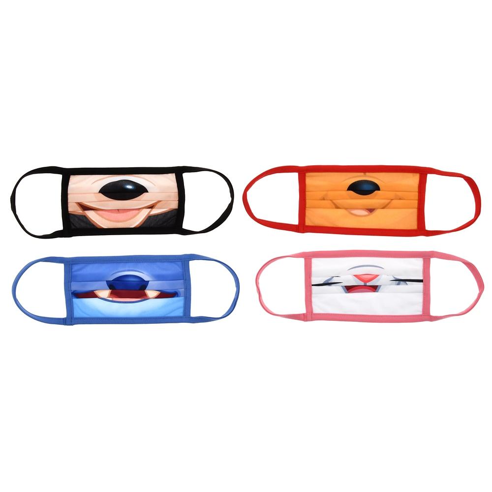 ディズニーキャラクター 家庭用布マスク 4枚セット