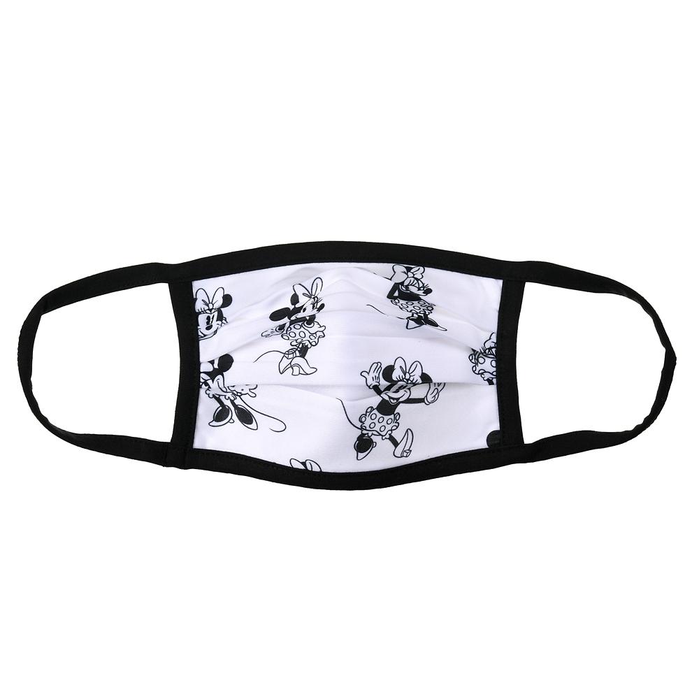 ミニー 家庭用布マスク ブラック&ホワイト