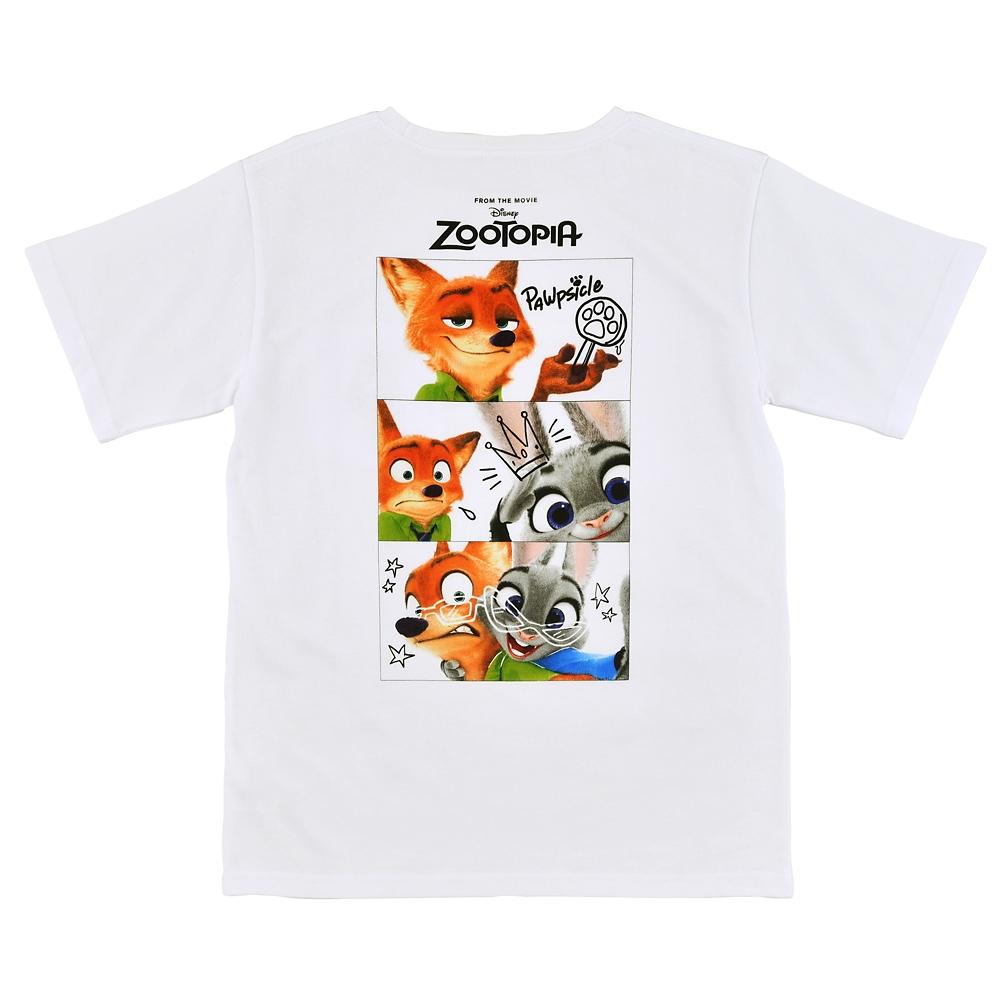 【送料無料】ジュディ・ホップス&ニック・ワイルド 半袖Tシャツ ディズニー映画『ズートピア』