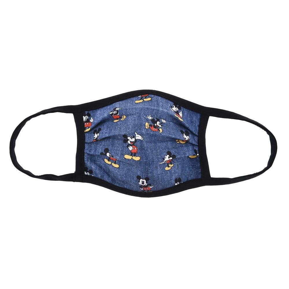 ミッキー 家庭用布マスク クラシック ブルー