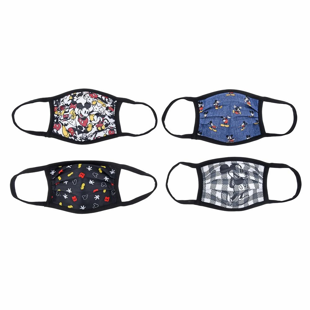 ミッキー 家庭用布マスク 4枚セット バリエーション