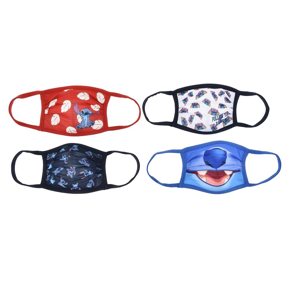 スティッチ 家庭用布マスク 4枚セット