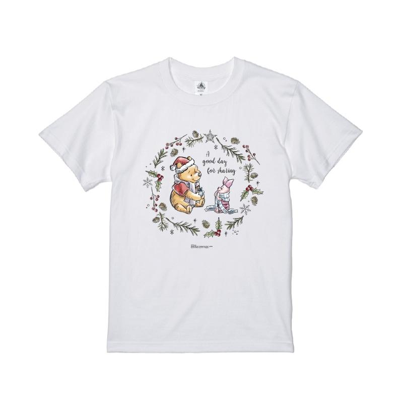 【D-Made】Tシャツ くまのプーさん プー&ピグレット クリスマス