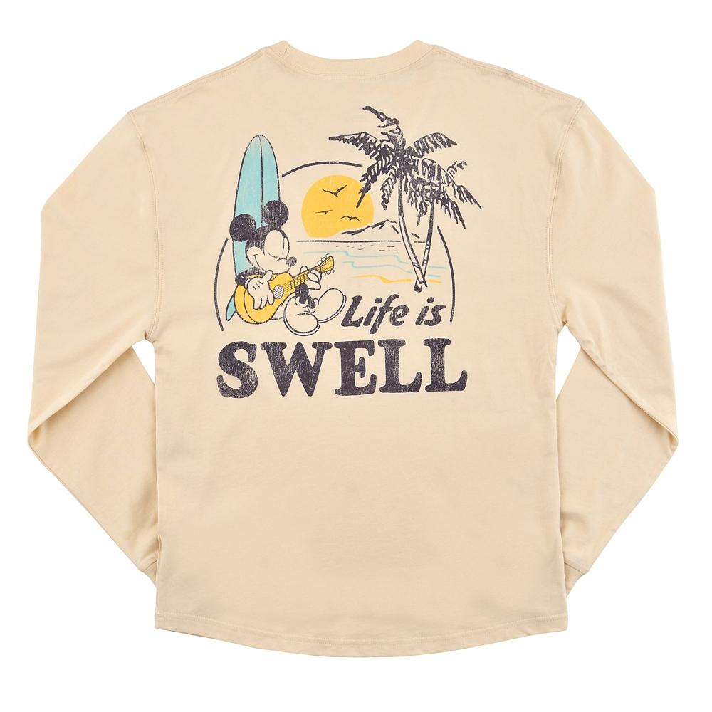 ミッキー 長袖Tシャツ Paradise Hawaiian