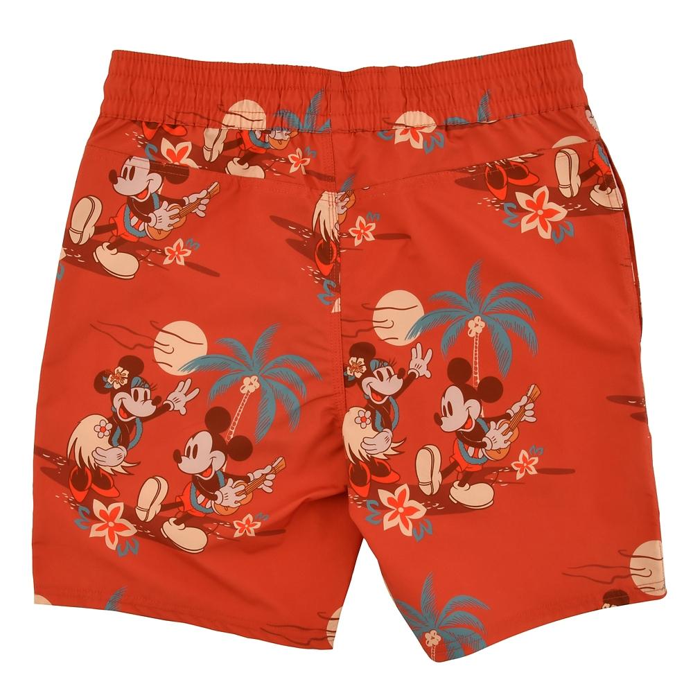 ミッキー&ミニー ハーフパンツ Paradise Hawaiian