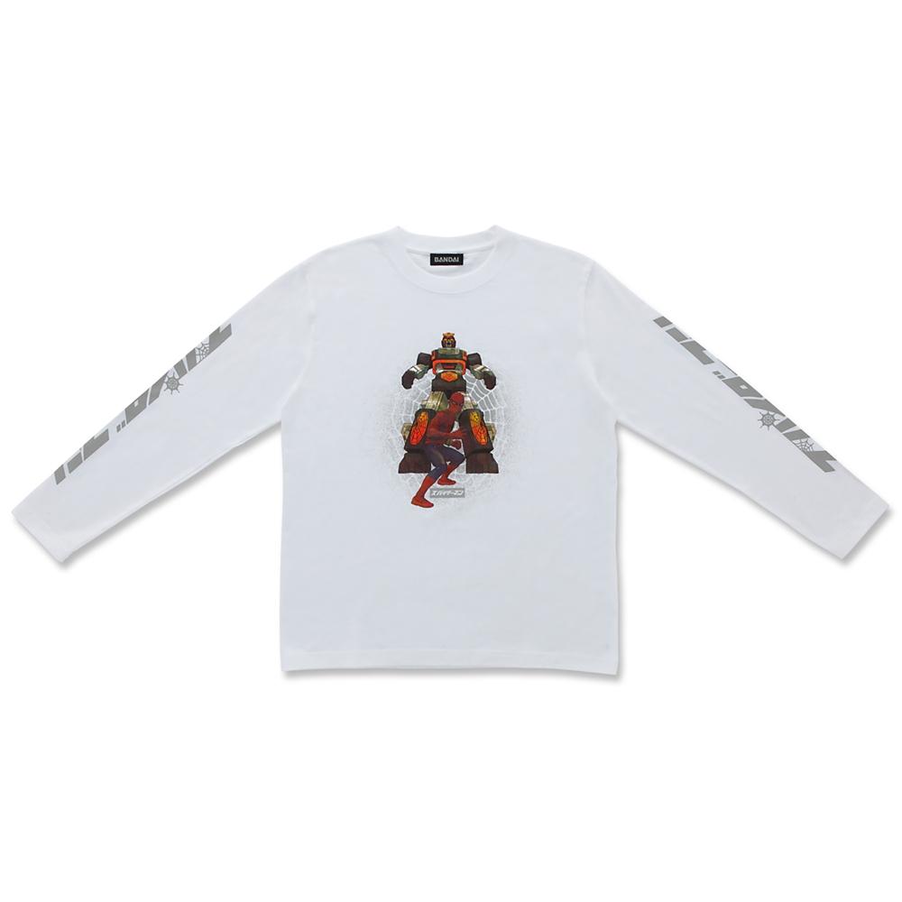 マーベル スパイダーマン&レオパルドン 長袖Tシャツ ホワイト 東映テレビシリーズ