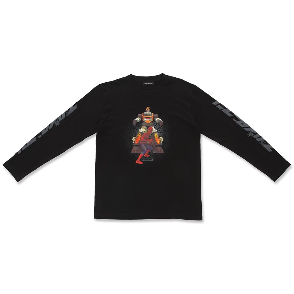 マーベル スパイダーマン&レオパルドン 長袖Tシャツ ブラック 東映テレビシリーズ