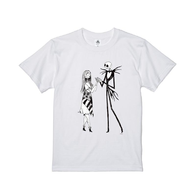 【D-Made】Tシャツ ティム・バートン ナイトメアー・ビフォア・クリスマス ジャック・スケリントン&サリー