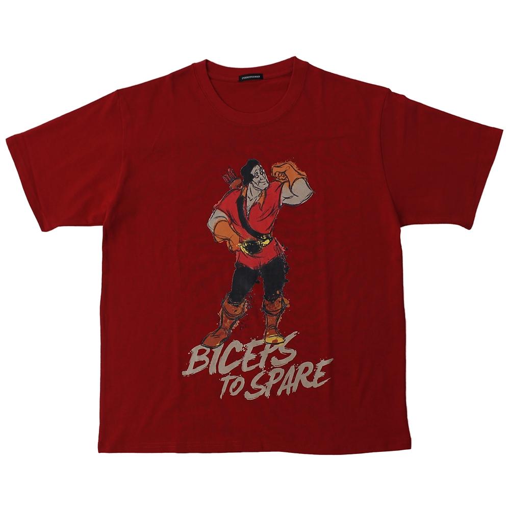 【パニカムトーキョー】ガストン 半袖Tシャツ レッド 美女と野獣