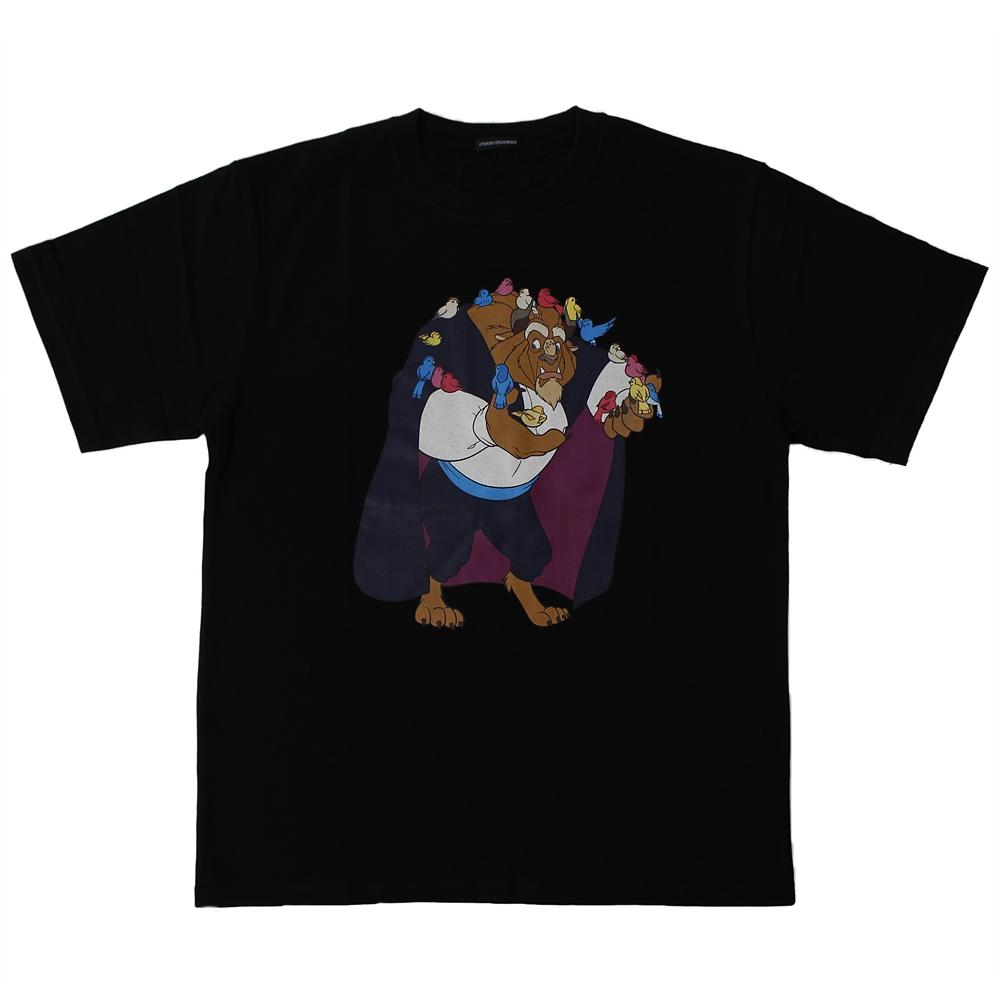 【パニカムトーキョー】野獣 半袖Tシャツ ブラック 美女と野獣