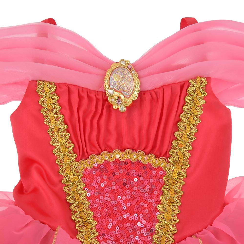 オーロラ姫 キッズ用ドレス スパンコール