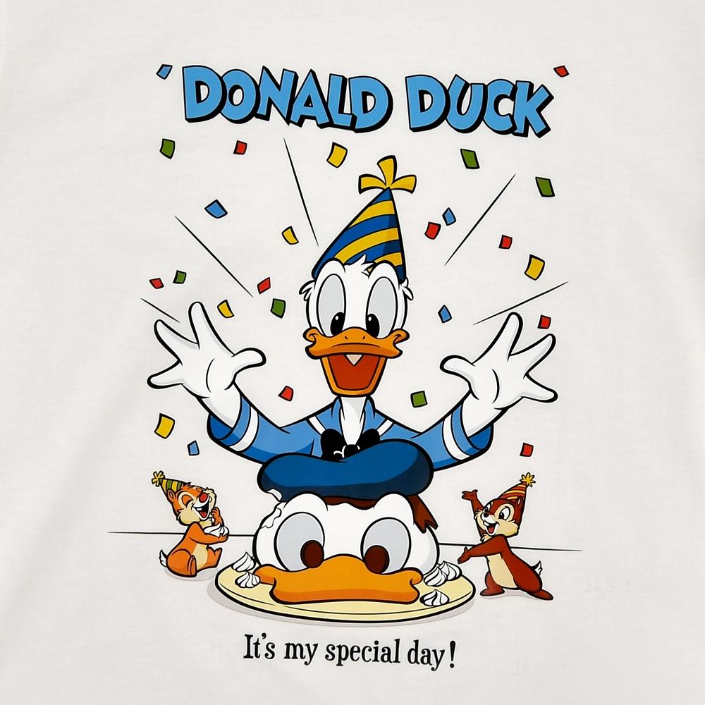 ドナルド、チップ&デール 半袖Tシャツ Donald Duck Birthday 2020