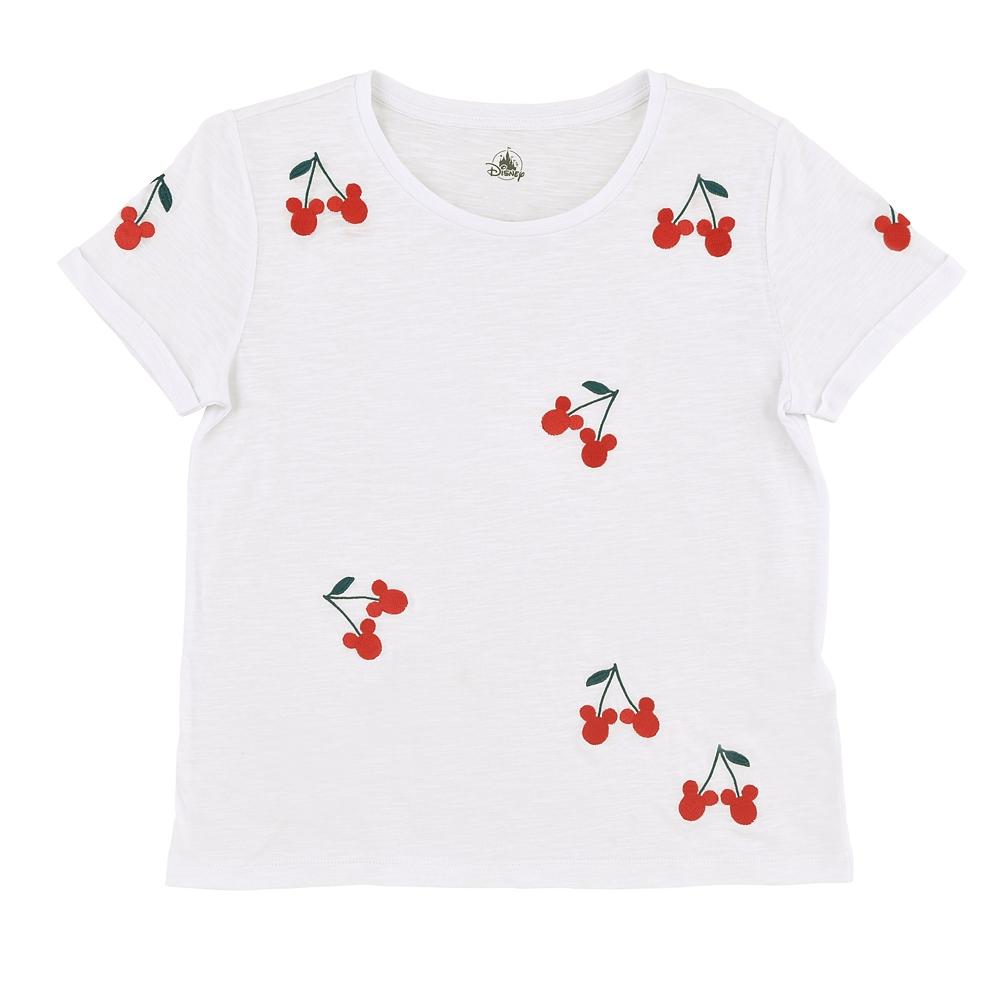 ミッキー 半袖Tシャツ(L) さくらんぼ