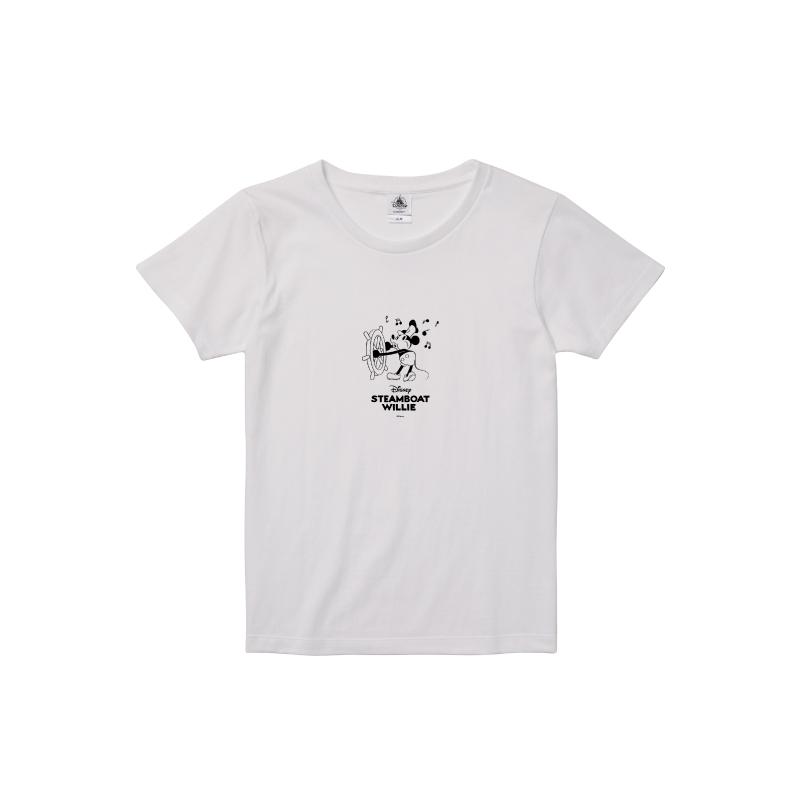 【D-Made】Tシャツ レディース 蒸気船ウィリー
