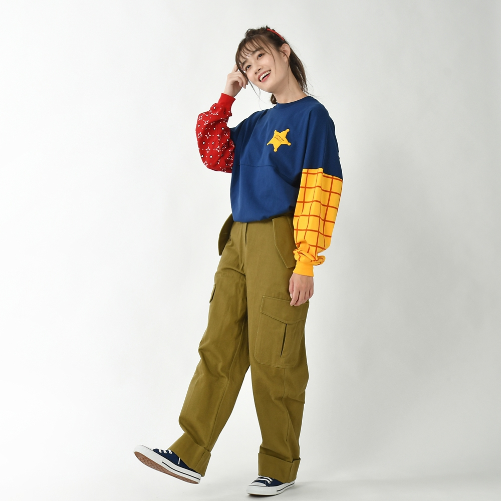 【Spirit Jersey】ウッディ 長袖Tシャツ Pixar Better Together