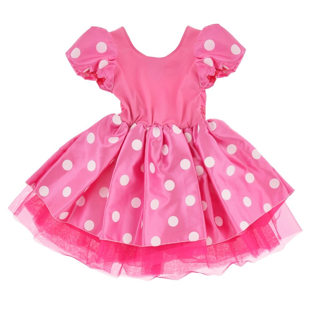 ミニー キッズ用ドレス ピンク グローブ付き